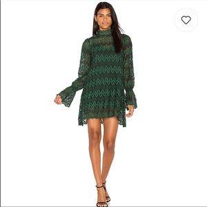 Free People Emerald Green Lace Dress